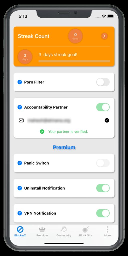 BlockerX iPhone - Block Page
